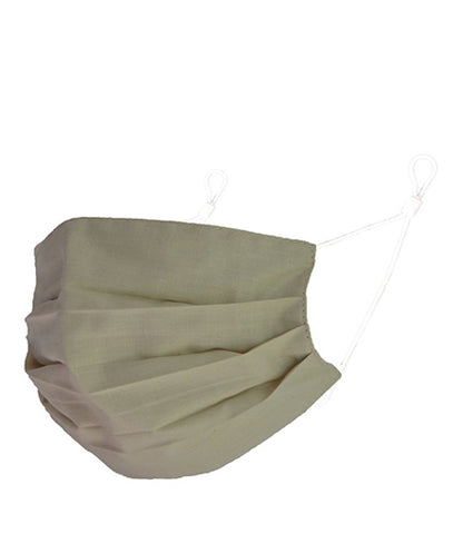Reusable Cotton Pleated Mask - Beige
