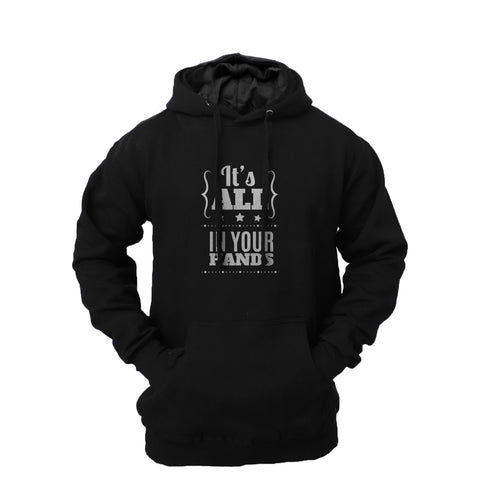 Men's 'It's All in Your Hands' Fleece Pullover Long-sleeved Printed Hoodie