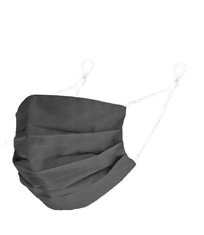 Reusable Cotton Pleated Mask - Grey