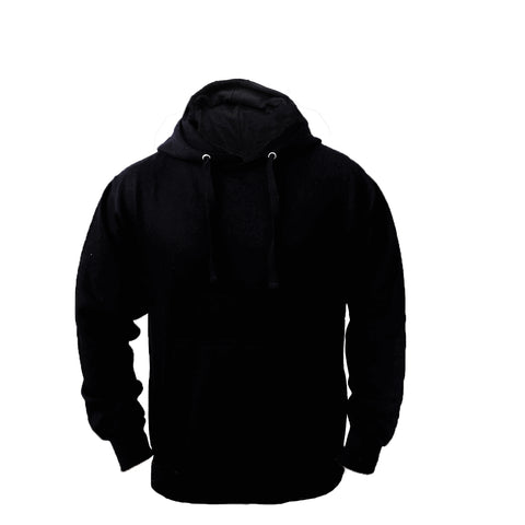 Men's Fleece Pullover Long-sleeved Plain Hoodie