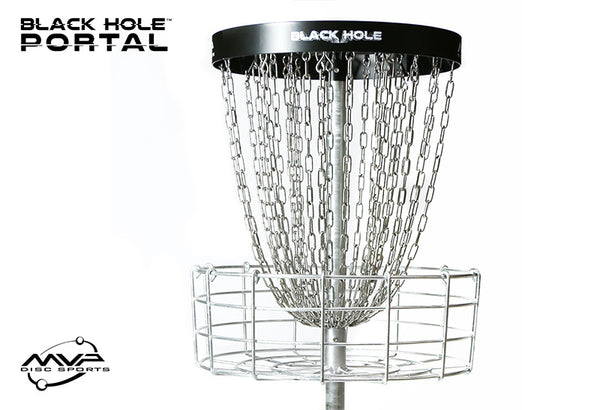MVP Black Hole Portal Disc Golf Basket