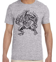Les White Stamp Design T-Shirt