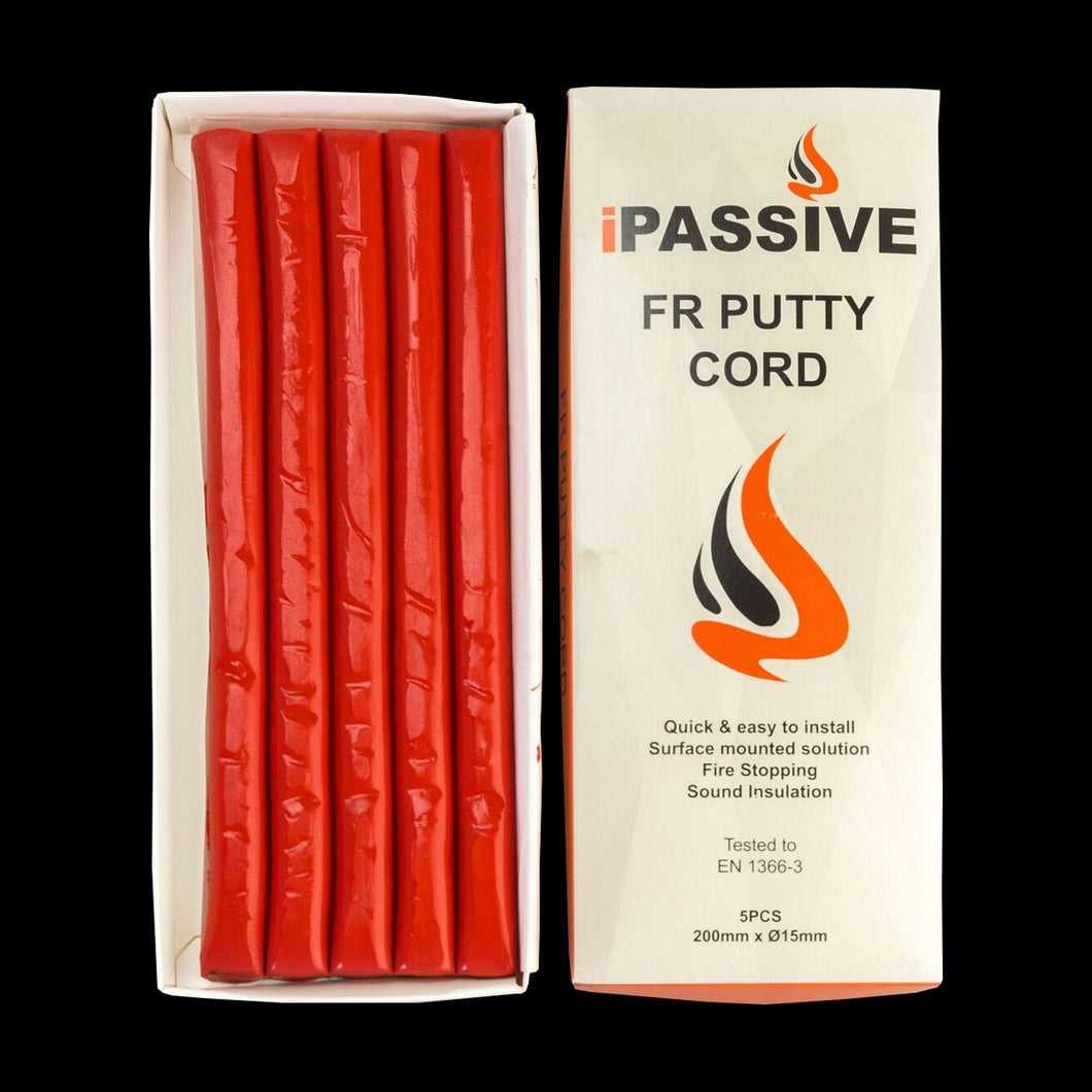 Box-iPassive FR Putty Cord-Warm Red-5 x 200mm Strips-20 Units