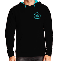 The Eff It Just Be French Terry Pullover Sweatshirt in Black and Turquoise