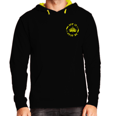The Eff It Just Be French Terry Pullover Sweatshirt with Yellow Logo