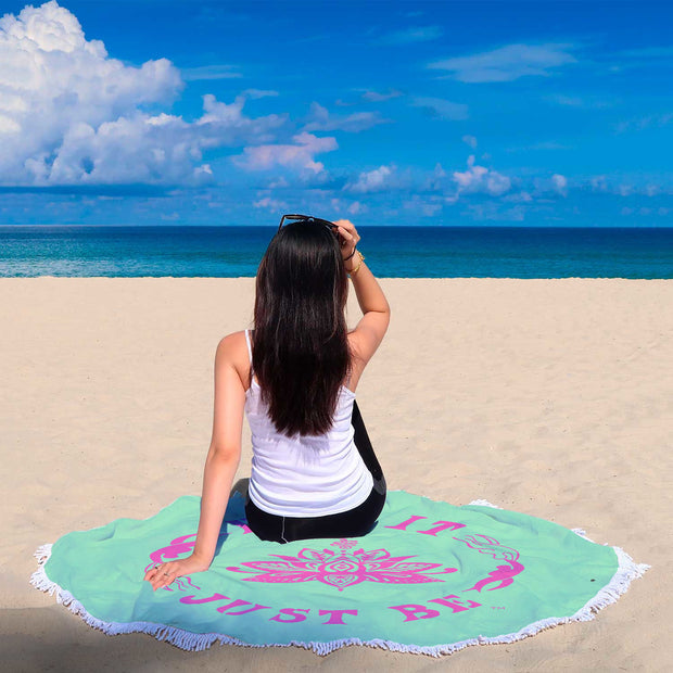 The Amazing Eff It Just Be Round Beach Towel