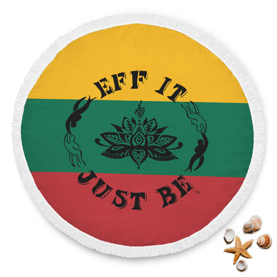 The Amazing Eff It Just Be Round Beach Towel-Lithuania