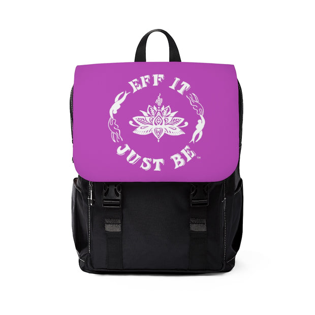 The Eff It Just Be Modern Shoulder Backpack in Purple