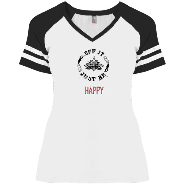 Eff It Just Be - HAPPY - Identity Collection - V-Neck Game T-Shirt