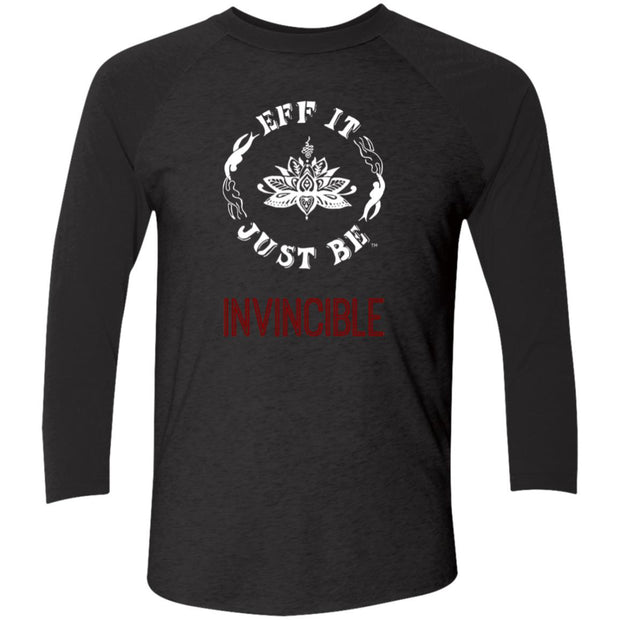 Eff It Just Be - INVINCIBLE- Identity Collection - Tri-Blend 3/4 Sleeve Raglan T-Shirt