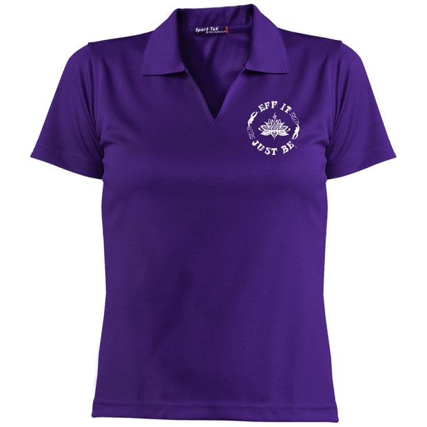 The Eff It Just Be Sport-Tek Ladies' Dri-Mesh Short Sleeve Polo
