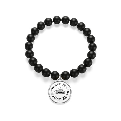 The Eff It Just Be Matte Onyx Bracelet