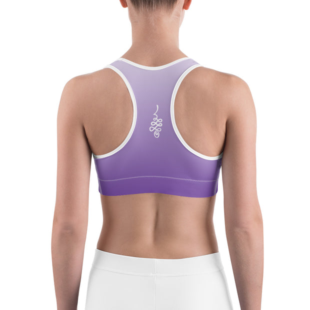 The Eff It Just Be Purple Ombre Sports bra with White Lettering