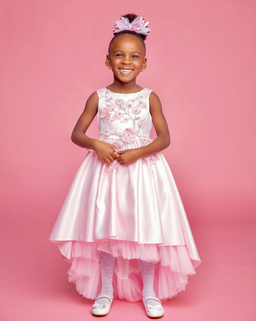 Pink Satin Princess Dress
