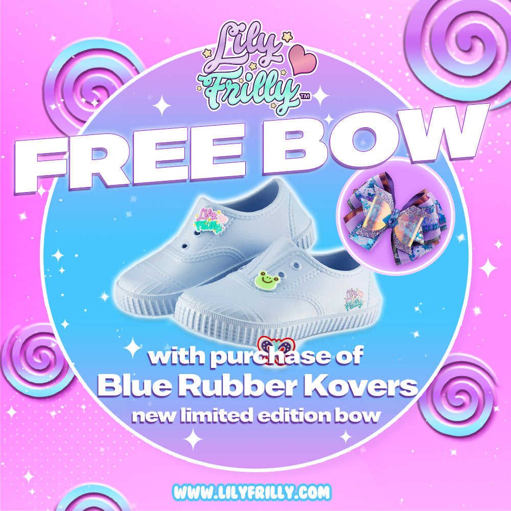 Rubber Kovers- Blue with FREE Limited Edition Bow
