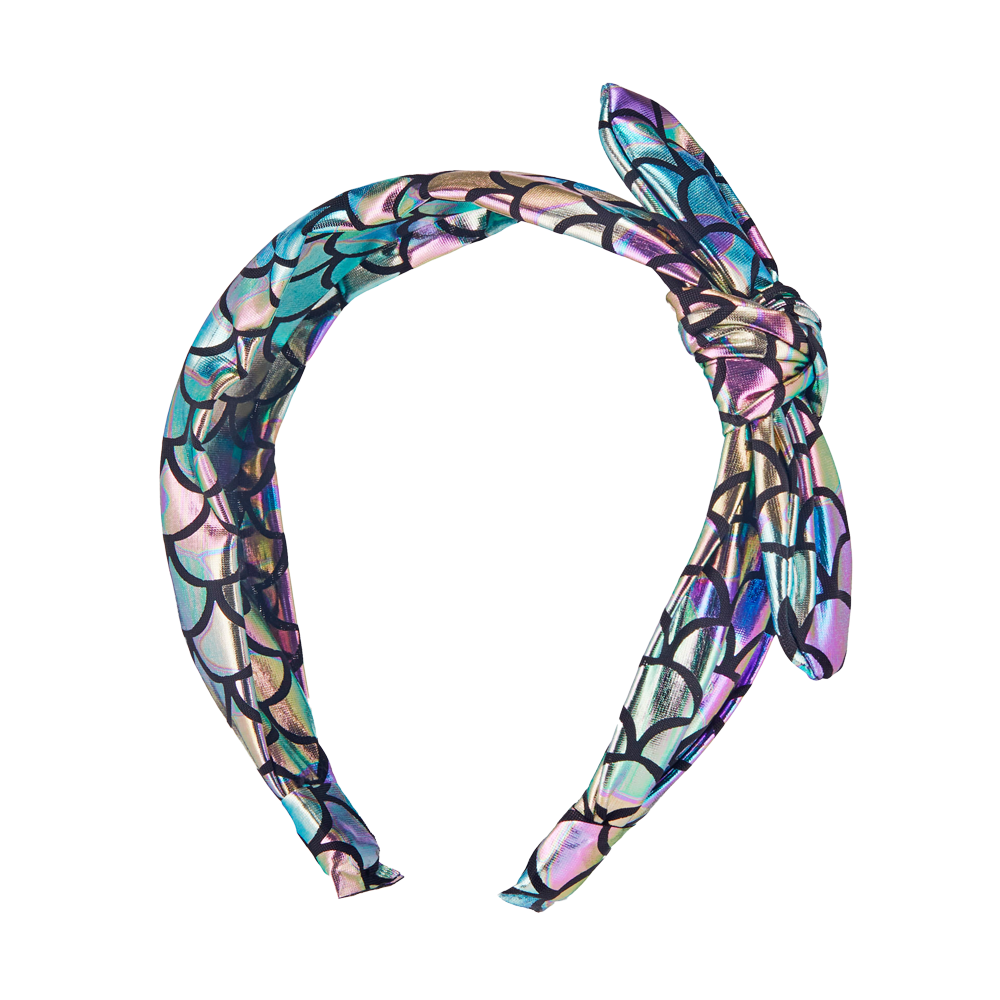 Metallic Knotted Headband - Mermaid