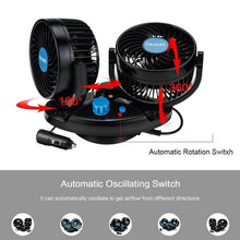 Load image into Gallery viewer, 12V Electric Car Fan 360 Degree Rotatable