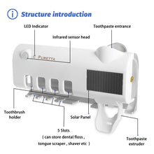 Load image into Gallery viewer, Solar UV Sanitizer Electronic Toothbrush Holder