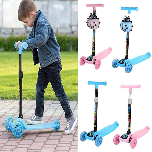 COOLKIDS™ Foldable 3-Wheel LED Kick Scooter
