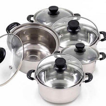 Load image into Gallery viewer, 5Pcs Set Arc Pot Stainless Steel Cookware