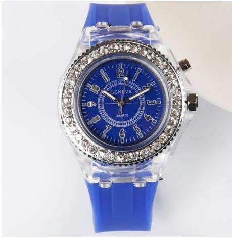 ee839999e ... Night Light Quartz Watch 2018 Diamond Geneva Silicone Sports Glowing  Women's Watches For Students Children Kids ...