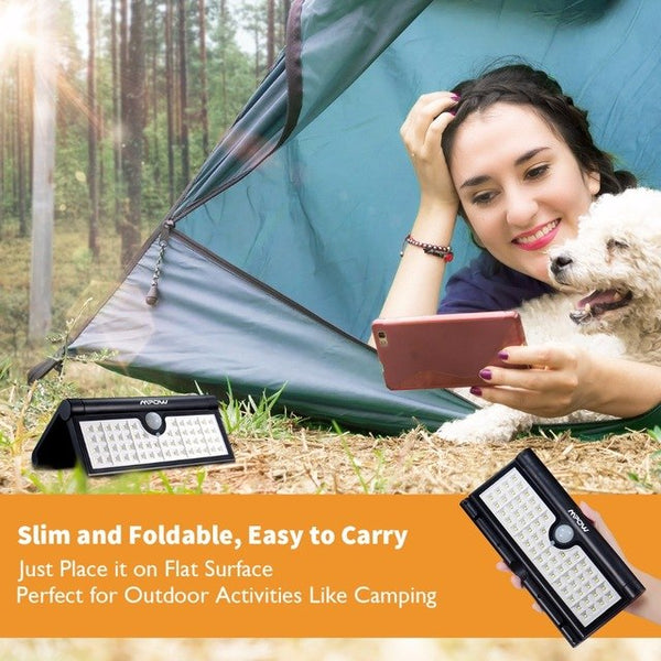 Mpow 58 LED Foldable Waterproof Solar Light - The Family Camper