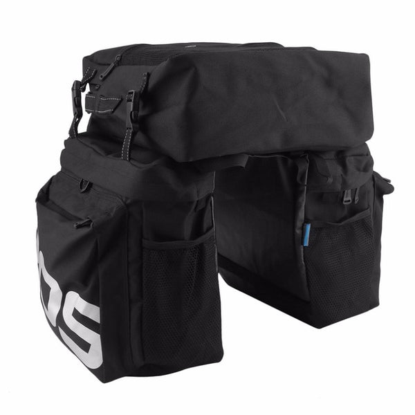ROSWHEEL MTB Mountain Bike Carrier Rack Bag 3 In 1 - The Family Camper