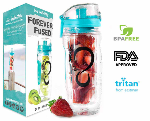 Live Infinitely 32oz Fruit Infuser Water Bottle - The Family Camper