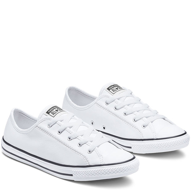 CT DAINTY LEATHER LOW WHITE