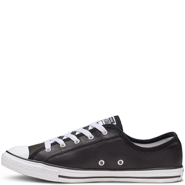 CT DAINTY LEATHER LOW BLACK