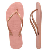 SLIM METAL LOGO ROSE NUDE/ROSE GOLD