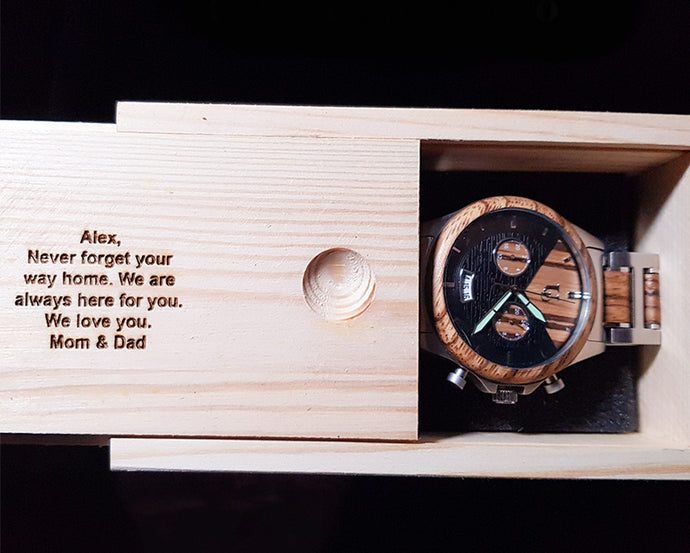 Perfect Gift for Son: Personalized and Engraved Wooden Watches