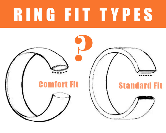 Wedding Bands: Comfort Fit vs. Standard Fit