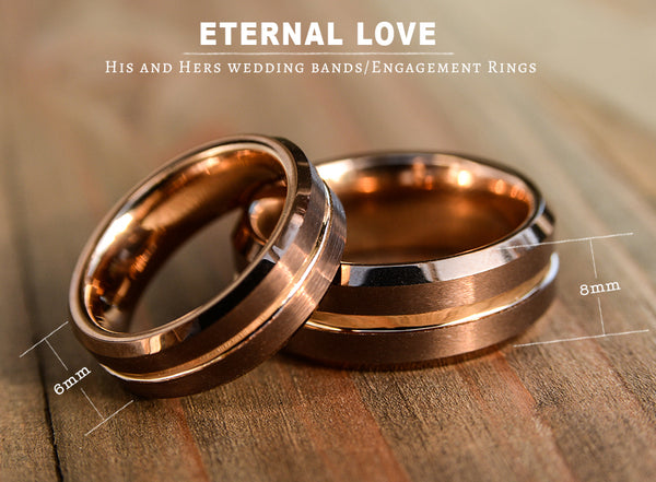 His and Hers wedding bands-Engagement Rings