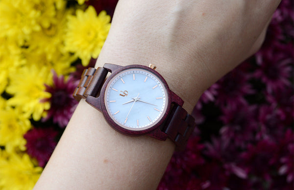 Rose Wooden Watches For Women by Urban Designer