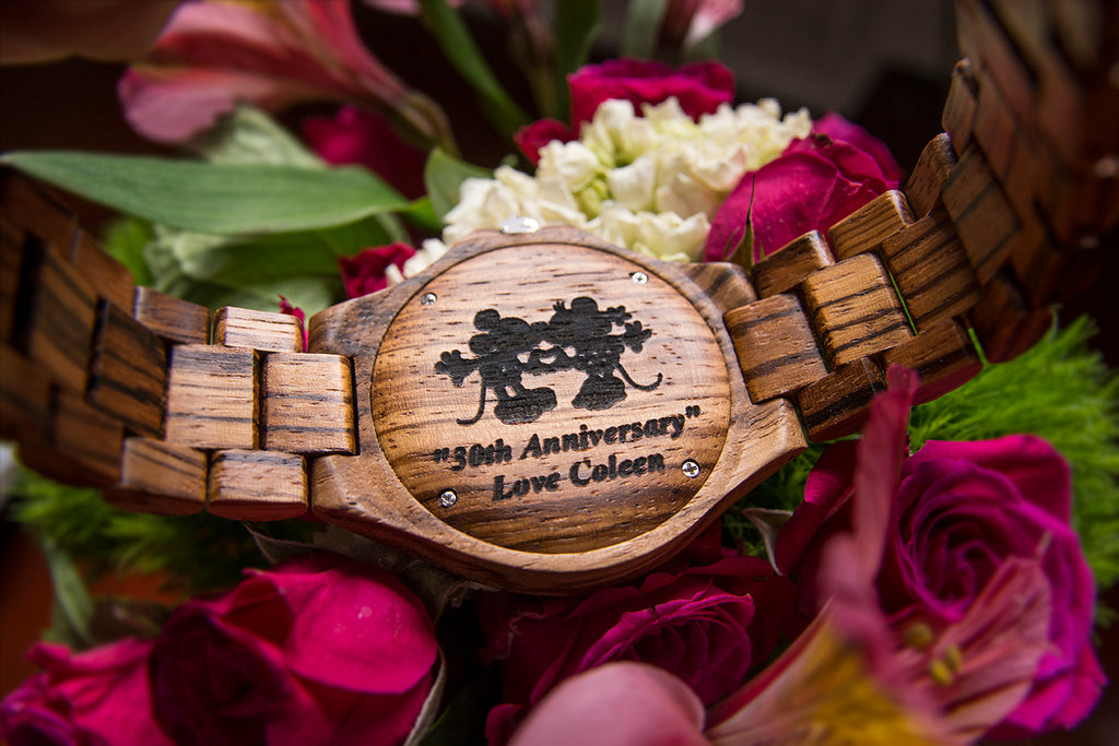 engraved wooden watches - best anniversary gifts