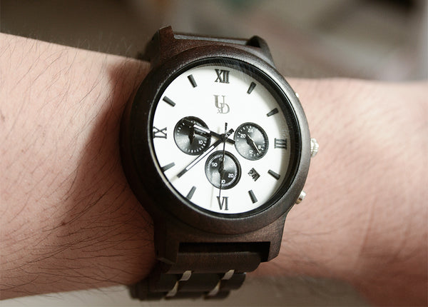 Mens Chronograph Wood Watch