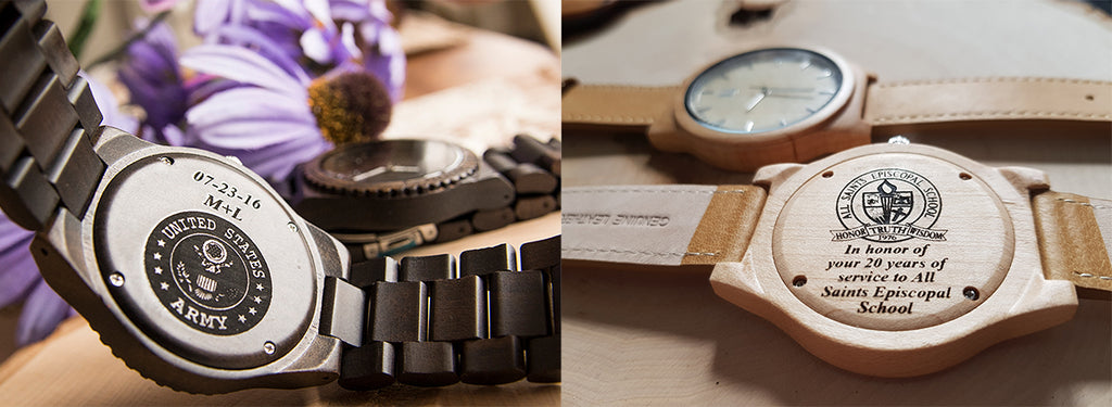 corporate gifts- engraved wooden watches