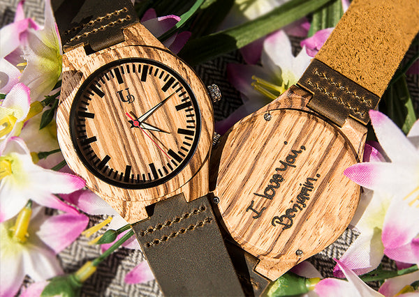 engraved wooden watches by Urban Designer