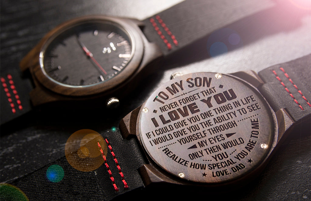 gifts for son engraved wood watches by urban designer
