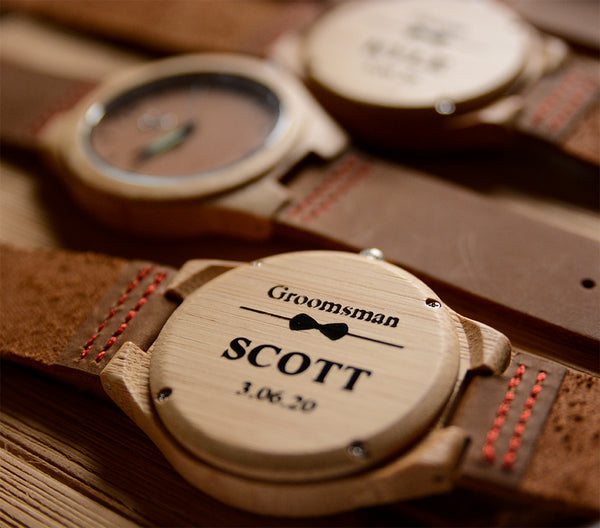 personalzied wood watch-anniversary gift-gifts for men-groomsmen watches