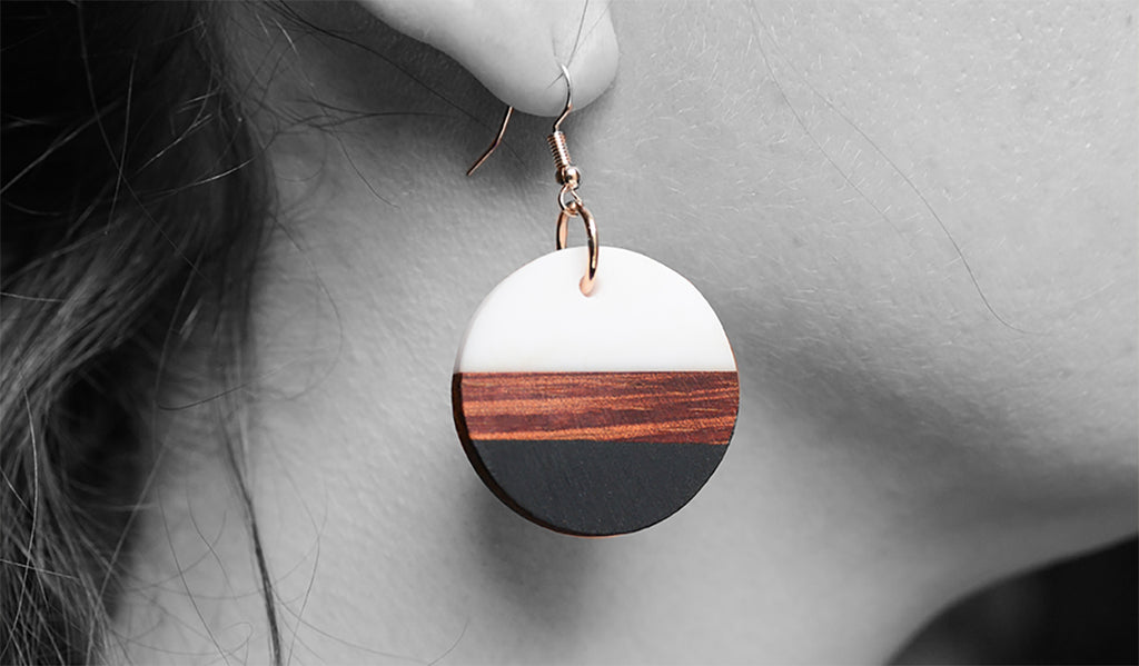 wood earrings by urban designer
