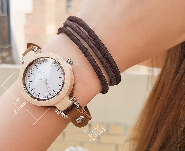 womens wooden watch-gift for her-geniune leather band wooden watches for her.jpg