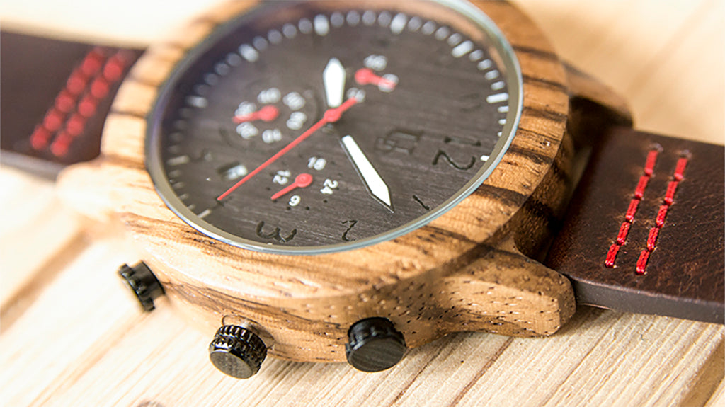 wooden watches for men by urban designer