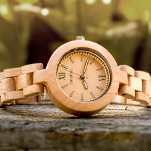 Handcraft Skone Ladies' Analog Stylish Beige Wooden Watch For Her