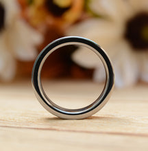 7 mm Tungsten Carbide Ring Brushed Wedding Band with Wood Inlay Comfort Fit