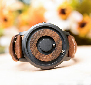 Mens Minimalist Wood Watch By Urban Designer