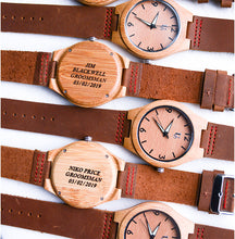 Groomsmen Gift Ideas: Engraved Groomsmen Watches Leather Band