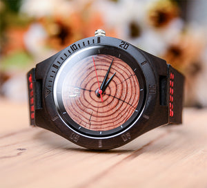 Handmade Original Wood Grain Wooden Watches for Men with Premium Leather Strap