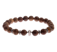 UD Meditation Prayer Wood Bead Bracelet Elastic Stretch wood bracelet for men